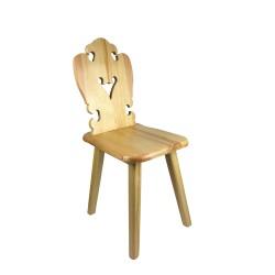 Krzesło HANKA do stołówki, jadalni, kuchni, salonu, baru, hotelu, restauracji. ZYDEL. Styl folkowy, góralski, cepelia.
