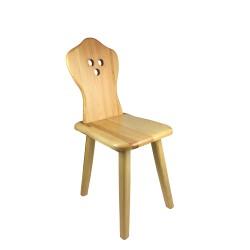 Krzesło HANKA do stołówki, jadalni, kuchni, salonu, baru, hotelu, restauracji. ZYDEL. Styl folkowy, góralski, cepelia